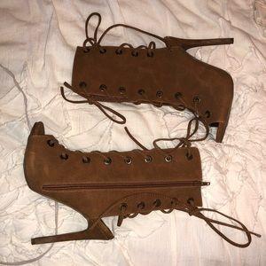 Windsor Lace Up Heels